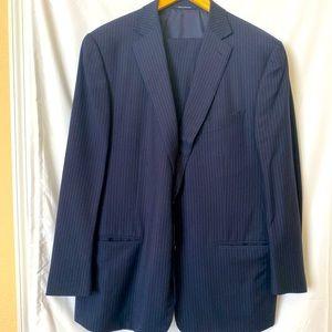 Ermenegildo Zegna Trofeo Navy Stripe Suit US 48 R